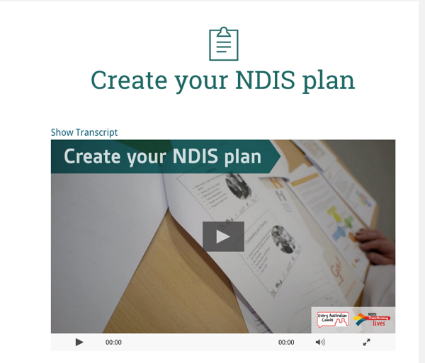 Autism NDIS make a plan